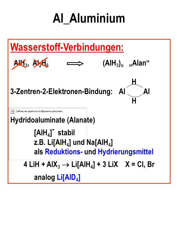 4 LiH + AlX3  Li[AlH4] + 3 LiX X = Cl, Br